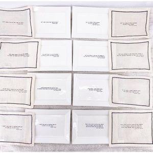 RH Literary quote plates & cocktail napkin set 8